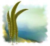 Japanese kelp (Laminari). Vector illustration. — Stock Vector