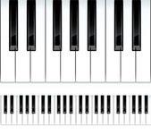 Piano keys. Seamless vector illustration. — Stock Vector