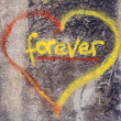 Love forever heart graffiti — Stock Photo
