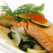 Stock Photo: Broiled salmon