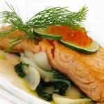 Broiled salmon — Stock Photo #4784839