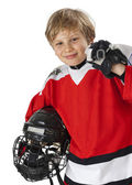 Young hockey player — Stock Photo
