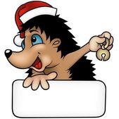 Christmas Hedgehog — Stock Vector