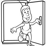 Bug and Open Door — Stock Vector #4668168