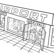 Airport — Stockvectorbeeld
