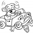 Dog and Car Crash — Image vectorielle