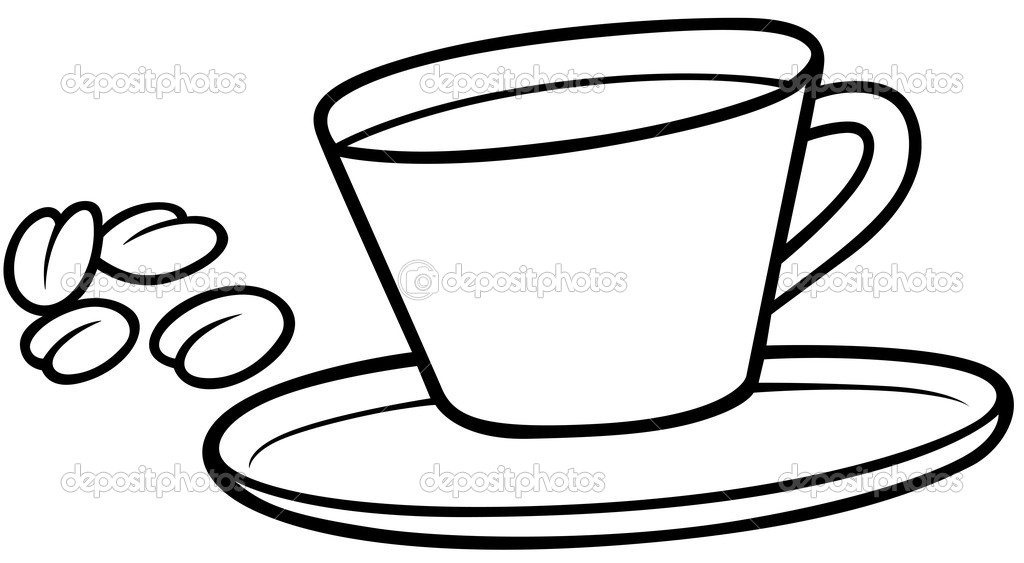 Coffee Cup Clip Art Black White Coffee Cup Black And White