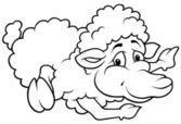 Postura de ovelhas — Vetorial Stock