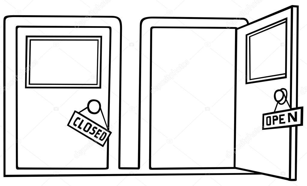 Open And Closed Doors : Open closed door 点力图库