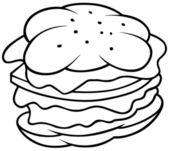 Hamburger — Stockvektor