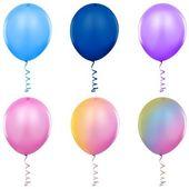 Balloons Singles — Stock Vector