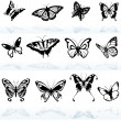 Royalty-Free Stock Vector Image: Butterfly Silhouettes
