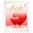 Love Stamp — Stock Vector