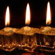 Three Candles . — Stock Photo
