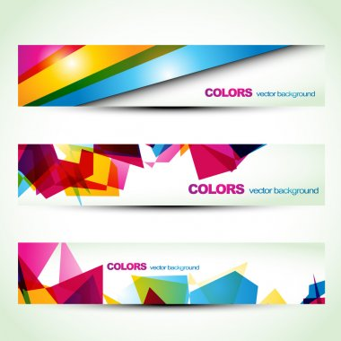 Abstract banner set designs