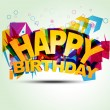 Happy birthday illustration - Stockvectorbeeld