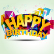 Happy birthday illustration — Imagen vectorial