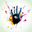 Royalty-Free Stock Vector Image: Abstract hand grunge art