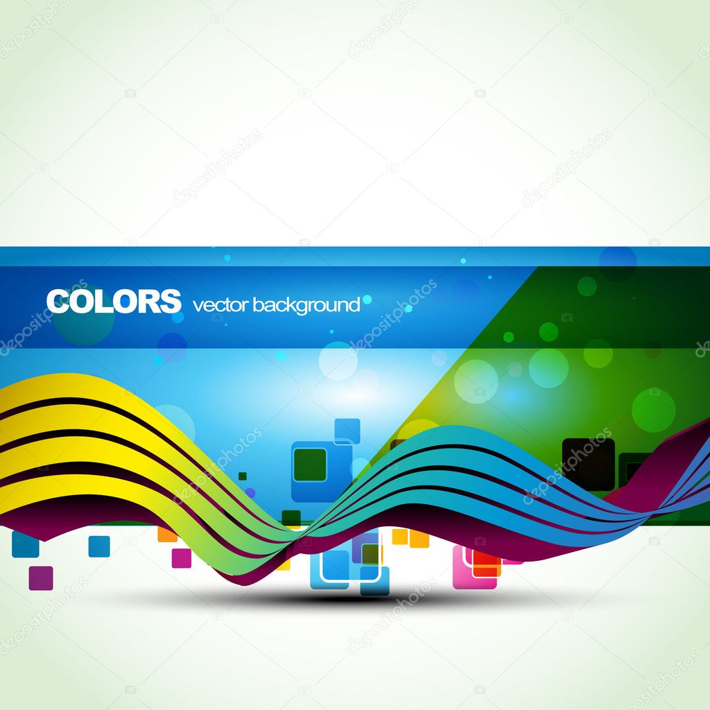 Vector blue color banner. Eps10 vector — Stock Vector #4065292