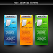 Vector web elements in different colors — Stock Vector