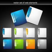 Web element design — Stock Vector