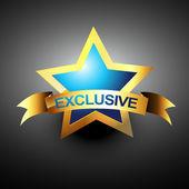 Vector exclusive icon — Stock Vector