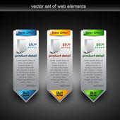 Web バナー販売図 — ストックベクタ