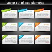 Ensemble de vecteur d'éléments web — Vecteur
