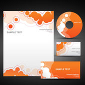 Vector orange template set — Stockvektor