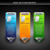 Intenet web item — Vector de stock
