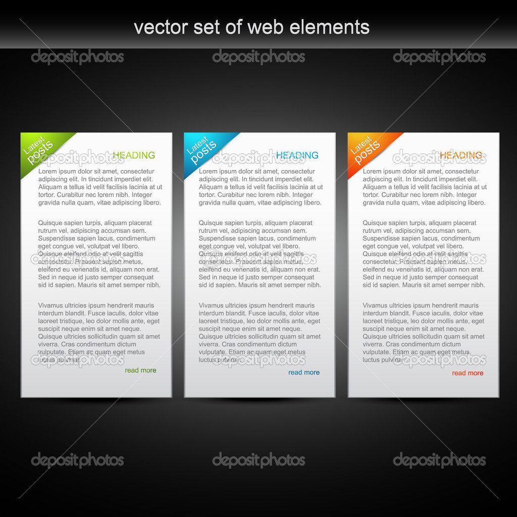 Vector set of three colorful web banner — Stock Vector #4082904
