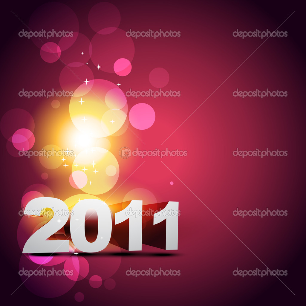 Happy new year beautiful vector design — Stock Vector #4100757
