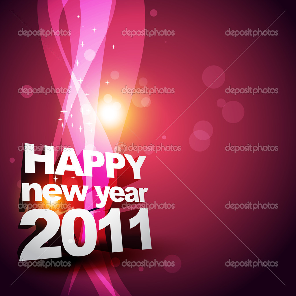 Vector new year glowing design — Stock Vector #4100787
