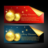Christmas balls labels — Stock Vector