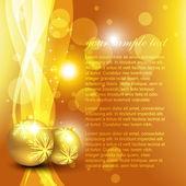Golden christmas background — Stock Vector