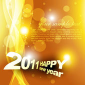 New year golden background — Stock Vector