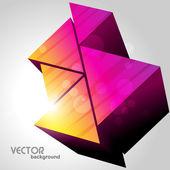 Colorful triangles design — Stock Vector