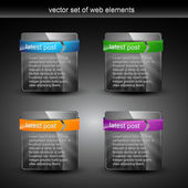 Web elements — Vettoriale Stock