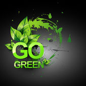 Go green vector symbol — Stock Vector