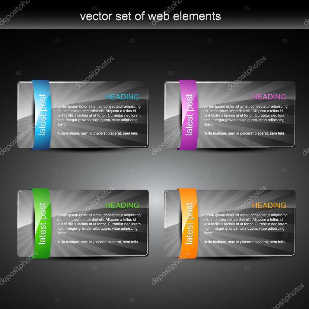 Glossy web element display with space for your text — Stock Vector #4750496