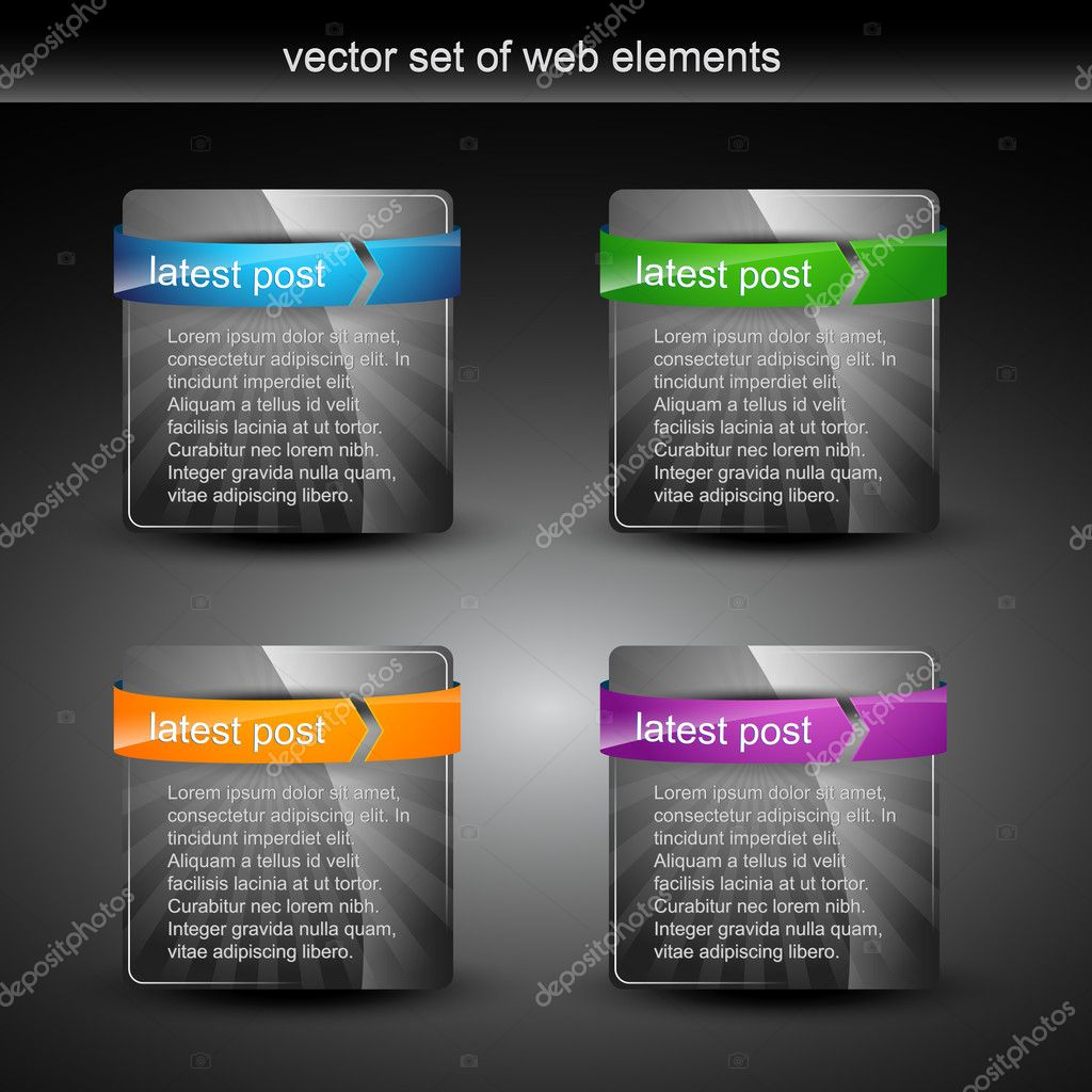 Web element display with space for your text — Stock Vector #4750505