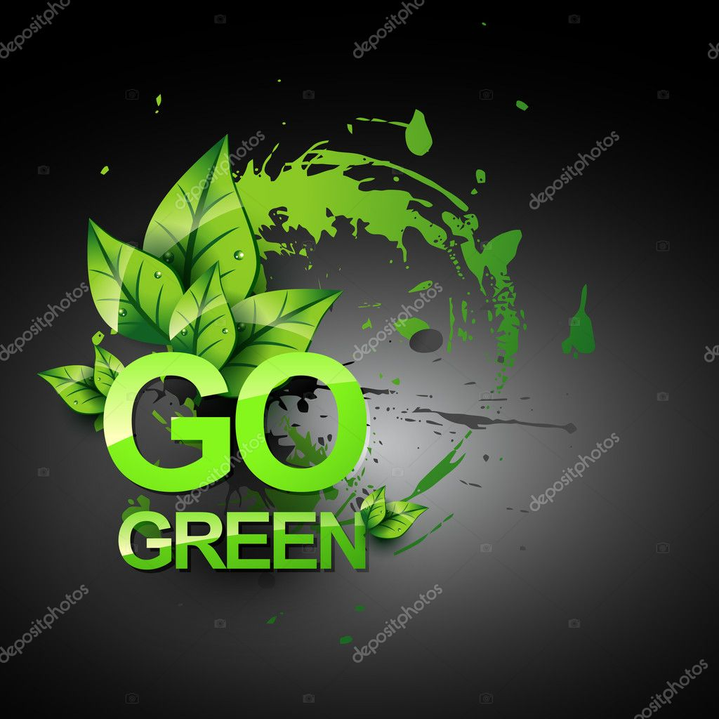 Go green vector symbol style design — Stock Vector #4750549