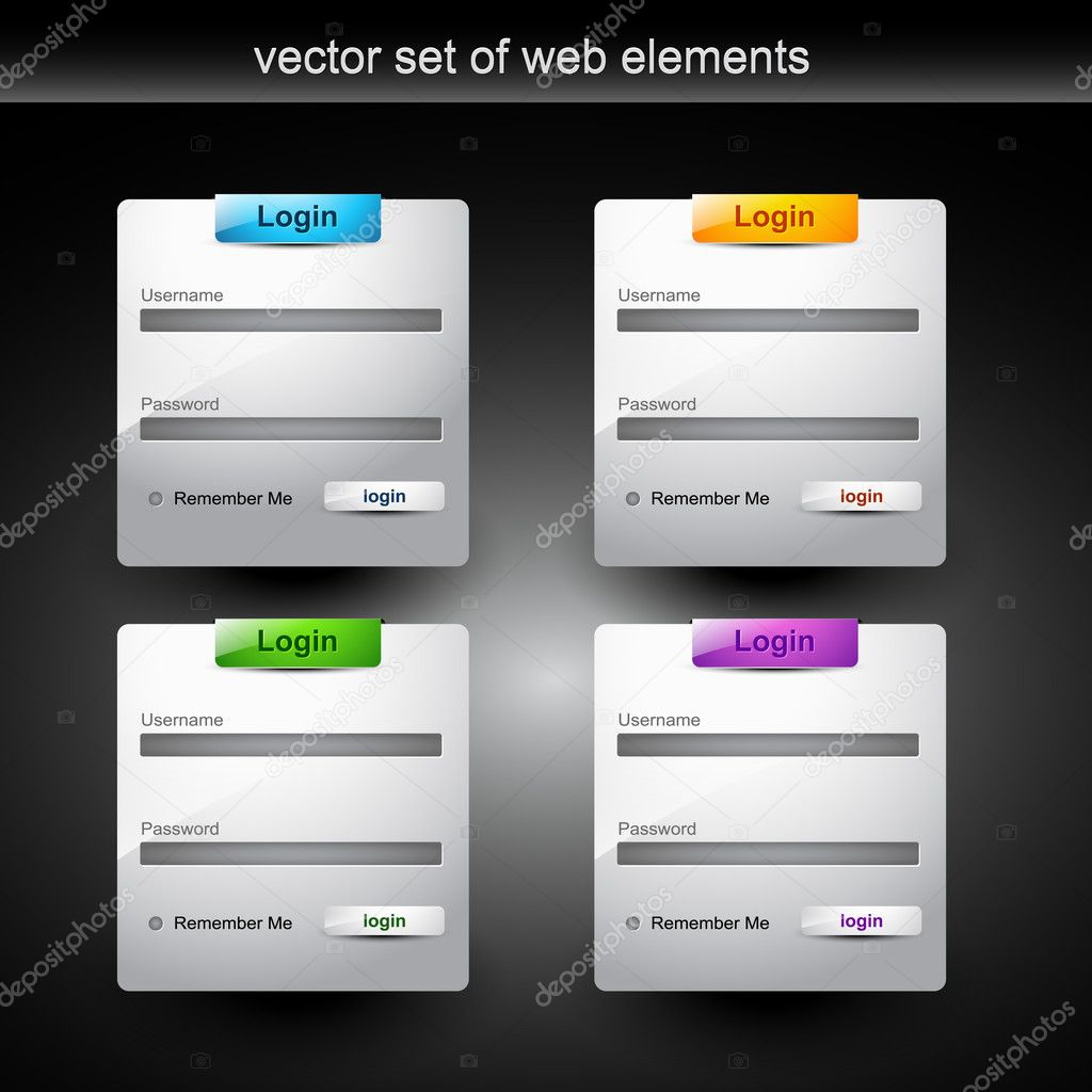 Web login form style element — Stock Vector #4750610