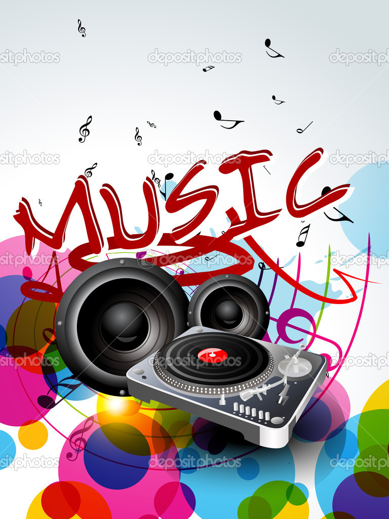 Abstract music background design — Stock Vector ...