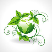 Green earth vector — Stock Vector