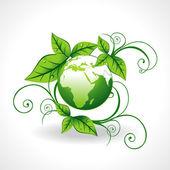 Green earth vector — Stock Vector