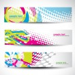 Stock Vector: Abstract header set