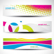 Royalty-Free Stock Vector Image: Abstract header set