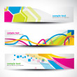Abstract header set - Stok Vektr