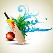 Vector cricket background — Stock Vector
